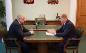 Сергей Цивилёв встретился с генеральным директором «МРСК Сибири» Виталием Ивановым